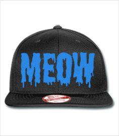 b4715212229 meow embroidery hat - New Era Flat Bill Snapback Cap