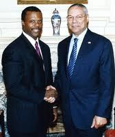 JC Watts and Colin Powell