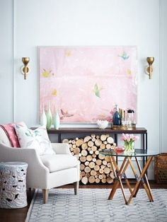 There's something really comforting about the clean lines and soft colors of this room.