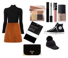 """First day fall x🎉"" by macie-miller-1 on Polyvore featuring Bobbi Brown Cosmetics, Gucci, NARS Cosmetics, Cushnie Et Ochs, House of Lafayette, John Lewis, Converse and Prada"