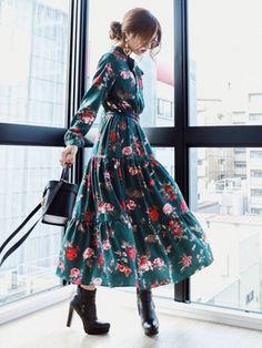One piece dress Looks- Akane?One piece dress Looks - : Akane?One piece dress Looks- Akane?One piece dress Looks - Modest Fashion, Hijab Fashion, Korean Fashion, Girl Fashion, Fashion Dresses, Womens Fashion, Fashion Design, Fashion Tips, Fashion Hacks