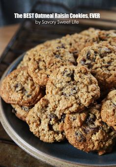 The Best Oatmeal Raisin Cookie Recipe | Savory Sweet Life - Easy Recipes from an Everyday Home Cook