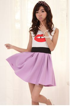 Sweet Style Sleeveless Cotton  Dress For Women $9.10