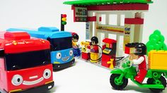 Animation Lego Block The Little Bus Tayo's play in petrol station 꼬마버스 타...