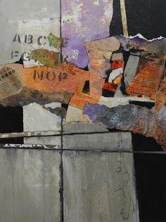 "CAROL NELSON                                           FINE ART BLOG: Mixed Media Abstract Collage, ""Billboard 4"" © Caro..."