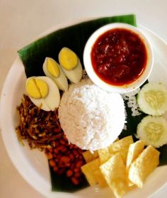 Recipe korean paper wrapped chicken asian food channel malaysian nasi lemak with sambal ikan bilis coconut milk rice with sambal anchovies my halal kitchen by yvonne maffei forumfinder Image collections