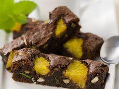 Brownies au chocolat à l'orange et menthe - La Table à Dessert