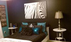 zebra print and turquoise bedroom | Zebra Print Turquoise and Brown Bedroom Idea : Zebra Print Turquoise ...