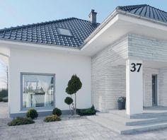 Front Yard Garden Design, House Outside Design, House Front Design, Modern House Design, Dream House Plans, Modern House Plans, House Paint Exterior, Exterior Design, Modern Bungalow House