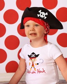 """Lil Pirate """"Off da Hook"""" embroidered kids tee"""