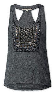 Top décoré in gris chiné Mode Pas Cher, Gris Chiné, Vêtements Femmes e2502aeb0f5