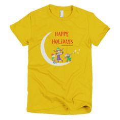 Happy Holidays First Night - Women's -  American Apparel Tee Shirt Available at JustinCaseDeck.com