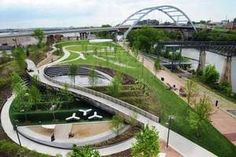 Nashville's new Cumberland Park - Enjoy lunch on the river with all of your rowdy friends!