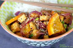 tofu grillé sauce à l'orange