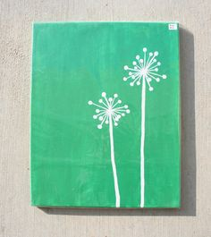 simple painted dandelion--be still and know