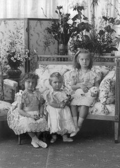Grand Duchesses Tatiana, Marie and Olga.