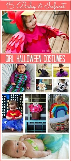 15 DIY Baby Girl Halloween costumes which are easy, affordable and cute. Make infant/ baby Halloween costumes with these DIY costume ideas for Baby Girl. #halloween #kidcostumes