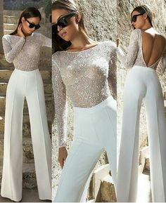 Woman All White Outfits Look Fashion, High Fashion, Womens Fashion, Fashion Design, Fashion Fashion, Luxury Fashion, Classy Outfits, Beautiful Outfits, Evening Dresses