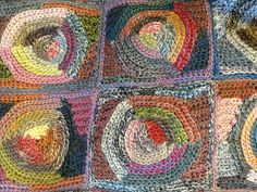 l'uccello the latest sophie design. looks like slip stitch. how do they get the vintage look! Manta Crochet, Freeform Crochet, Crochet Motif, Crochet Designs, Knit Crochet, Knitting Patterns, Crochet Patterns, Textiles, Slip Stitch