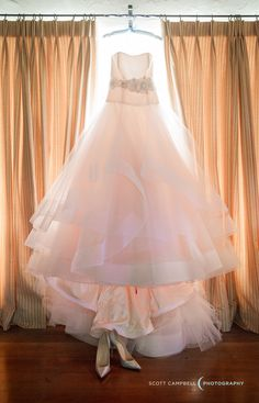 A Lazaro masterpiece | Photography: Scott Campbell Photography - www.scottcampbellphoto.com/  Read More: http://www.stylemepretty.com/california-weddings/2015/03/14/romantic-redwood-ranch-wedding/