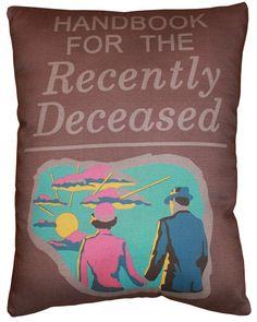 Handbook Pillow BEETLE JUICE!!! AHH I NEED THIS!!