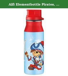 Alfi Elementbottle Pirates, Drinking Bottle, Stainless Steel/ Silicone, 0.6l, Blue, 5377147060. Recycling is better than disposable products: Alfi Elementbottle is a brilliant example of ambiental sustainability! This double-walled, vacuum pumped stainless steel body is the heart of the Alfi insulating bottles. Extremely robust, Resistant to fruit acid and absolutely toxin free to meet all requirements. The vacuum efficiently stops any temperature balance. Therefore drinks remain hot for…