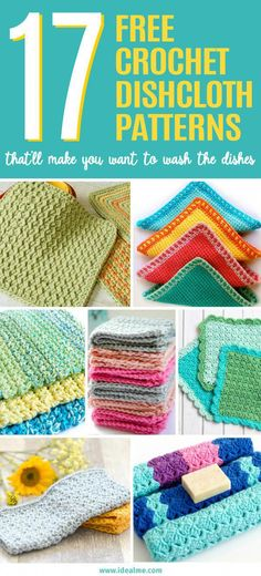 4b8385d6429 Looking for any each crochet project  Check out our 17 free crochet  dishcloth patterns that