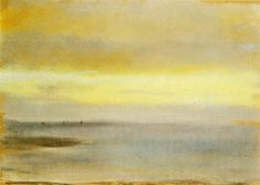 Marina, Sunset, 1869 by Edgar Degas. Impressionism. marina. Private Collection