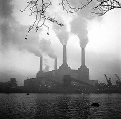Battersea Power Station, Battersea, Greater London, c. 1960, by John Gay