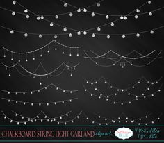 Chalkboard String Light Garland Clipart Tafel String Licht Girlande Clipart von BellhavenBlue auf Etsy The post Chalkboard String Light Garland Clipart appeared first on Paper Ideas. Chalkboard Doodles, Chalkboard Writing, Chalkboard Lettering, Chalkboard Designs, Chalkboard Clipart, Chalkboard Ideas, Chalkboard Banner, Chalkboard Drawings, Summer Chalkboard Art