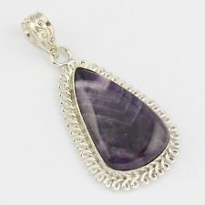 AMETHYST FASHION JEWELRY  .925 SILVER PLATED PENDANT  S5784