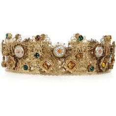 Dolce & Gabbana Gold-plated Swarovski crystal crown ($1,530) ❤ liked on Polyvore featuring accessories, hair accessories, jewelry, crown, hats, headpiece, gold, dolce&gabbana, swarovski crystal hair accessories and crown hair accessories