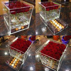New Plexi Box !! with Choclate . #LaRoseBoxArrangement . . #LaRose #Box #Choclate #Plexi #Nabatieh #Lebanon #النبطية #لبنان #Red #Love