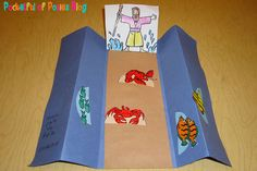 Sunday School Crafts: Moses and the Parting of the Red Sea - Blessings Overflowing