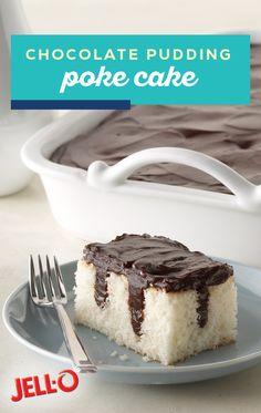 Lower Excess Fat Rooster Recipes That Basically Prime Chocolate Pudding Poke Cake What's Better Than Chocolate Pudding On Top Of A Cake? What about Chocolate Pudding Inside The Cakeand The Fact That It's A Healthy Living Dessert Recipe? Poke Cake Recipes, Poke Cakes, Cookie Recipes, Cupcake Cakes, Dump Cakes, Layer Cakes, Köstliche Desserts, Delicious Desserts, Dessert Recipes