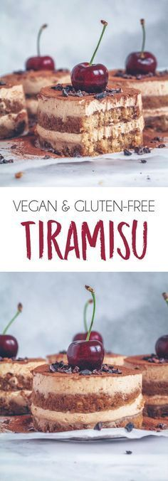 VEGAN GLUTEN-FREE TOFU TIRAMISU #healthy #vegan #glutenfree #dairyfree #tiramisu #tofu #dessert #treat #recipe #coffee #cream #plantbased #almondbutter #cherries #protein #highprotein