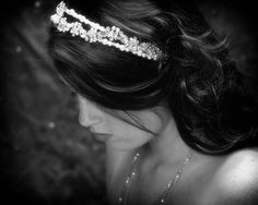 Wedding tiara double band Swarovski crystals by DragonflyWeddings, £74.00