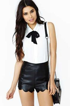 Fever Dream Faux Leather Shorts