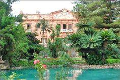Garden of a luxury villa in Sicily