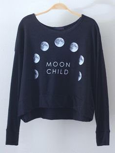 moon sweatshirt✧≪∘∙✦✧•*•. ஐ ✦⊱ᴘɪɴᴛᴇʀᴇsᴛ @Kawaii Duck ⊰✦ ღ Follow to discover more ஐ✧•*•