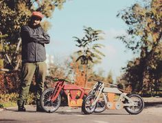 Balance bike project. Classic motorcycle style. Days at wood workshop made it. Handmade bike. Do it your self project DIY