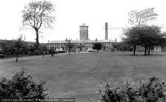The front of Davyhulme Park Hospital as it was originally before hidden behind ugly modern extensions.  Moorside Road, Urmston, Manchester