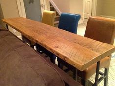 "bar table or console table. size requests welcomed. 66"" l x 18"" w x 30""  tall"