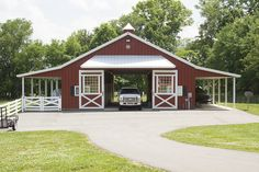 Morton Buildings horse barn in Thompson's Station, Tennessee.
