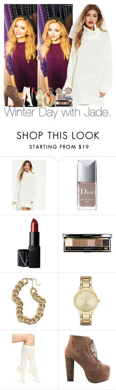 """Winter Day with Jade."" by sydneykhall ❤ liked on Polyvore featuring Forever 21, Christian Dior, NARS Cosmetics, Bobbi Brown Cosmetics, Kate Spade, Calvin Klein, Jeffrey Campbell and Marc by Marc Jacobs"
