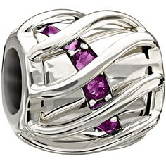 Chamilia Enchanting Spiral Purple Swarovski #chamilia #purple #swarovski #bead #silver