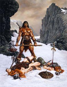He Man Thundercats, Conan The Destroyer, Sword Poses, Viking Character, Conan The Barbarian, Fantasy Fiction, Boris Vallejo, Sword And Sorcery, Fantasy Warrior