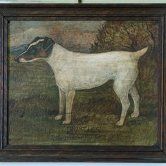 """Oil Paintings - """"Bristles"""" Original oil on board of a dog called Bristles , with the description """"Bristles""""  the property of Mr S Hyde."""
