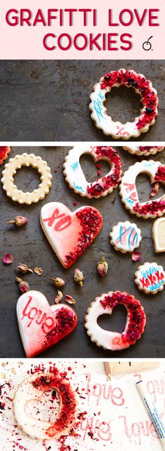 Urban art meets sugar cookies in these delicious graffitti love cookies.