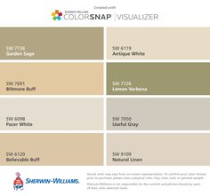 biltmore buff ? ColorSnap by Sherwin-Williams – Home | warmer ...